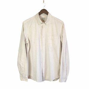 J.Crew Cotton Slim Cream Button Up Shirt